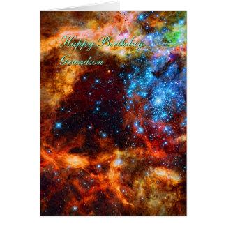 Nieto del cumpleaños grupo estelar nebulosa del felicitación