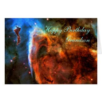Nieto del feliz cumpleaños - nebulosa del ojo de tarjeta de felicitación