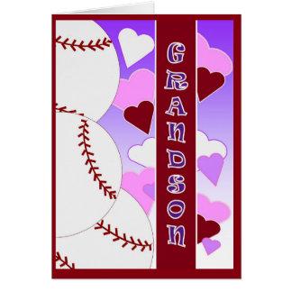 Nieto - te amo más que béisbol del amor de U Tarjeta De Felicitación