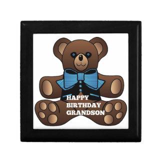 Nieto Teddybear del feliz cumpleaños Caja De Recuerdo