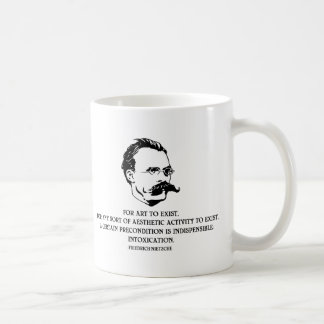 Nietzche - Intoxication Classic White Coffee Mug