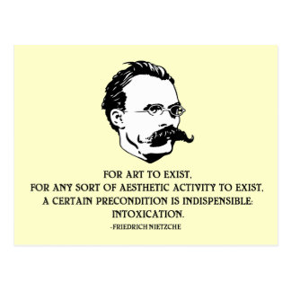 Nietzche - Intoxication Postcard