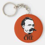 Nietzs-Che Basic Round Button Keychain