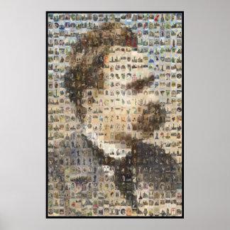 Nietzsche 24x24 en óvalos poster