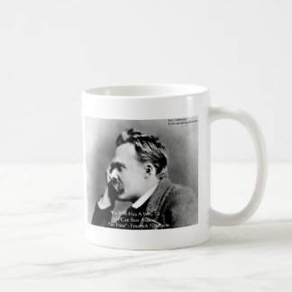 "Nietzsche ""A Why"" Wisdom Quote Gifts & Cards Classic White Coffee Mug"