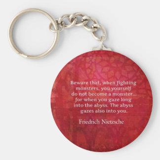 Nietzsche abyss quote keychains