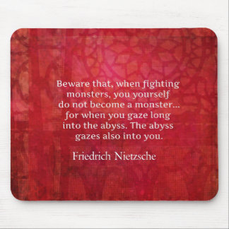 Nietzsche abyss quote mouse pad