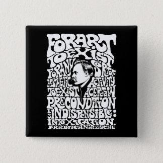Nietzsche - Art Pinback Button