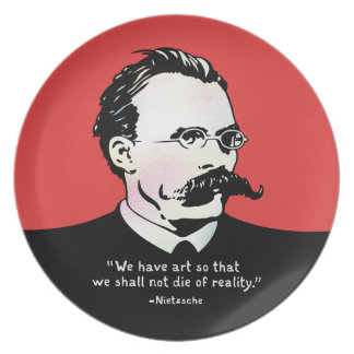 Nietzsche - Art v. Reality Melamine Plate