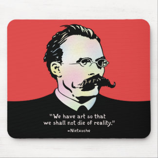 Nietzsche - Art v. Reality Mouse Pad