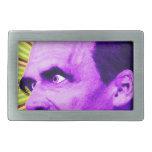 Nietzsche Burst! Yellow & Purple & Bursty! Rectangular Belt Buckles