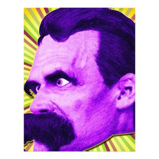 Nietzsche Burst! Yellow & Purple & Bursty! Letterhead Design