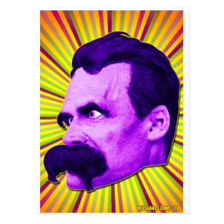 Nietzsche Burst! Yellow & Purple & Bursty! Postcard