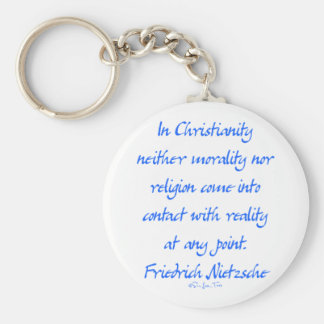Nietzsche Christianity Keychain
