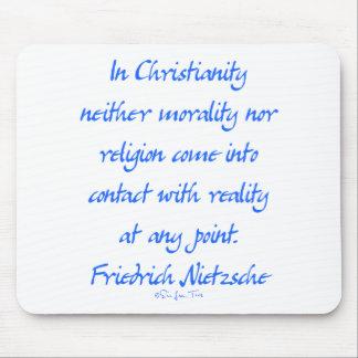 Nietzsche Christianity Mousepads