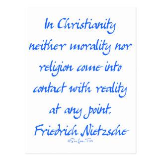 Nietzsche Christianity Postcard