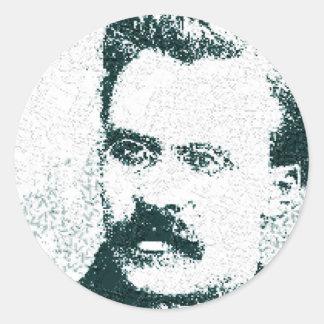 Nietzsche Classic Round Sticker