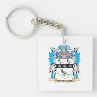 Nietzsche Coat of Arms - Family Crest Square Acrylic Key Chain