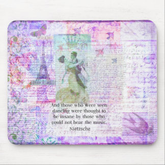 Nietzsche dancing and music quote mouse pad