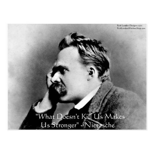 "Nietzsche ""Doesn't Kill U"" Quote Gifts & Tees Postcard"