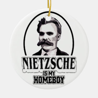 Nietzsche es mi Homeboy Adorno Navideño Redondo De Cerámica