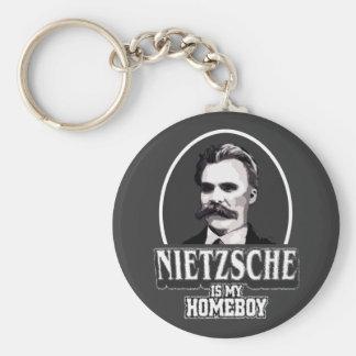Nietzsche es mi Homeboy Llavero Redondo Tipo Pin