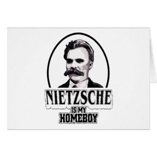 Nietzsche es mi Homeboy Tarjeta De Felicitación