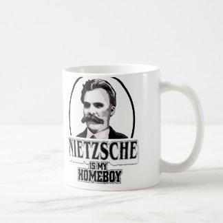Nietzsche es mi Homeboy Taza Básica Blanca