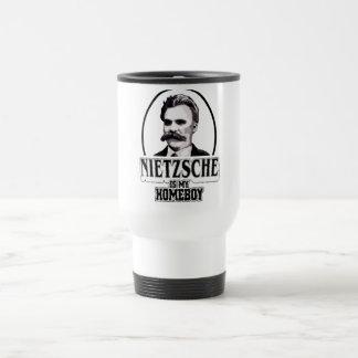 Nietzsche es mi Homeboy Taza De Viaje De Acero Inoxidable
