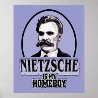 Nietzsche es mi poster del Homeboy Póster