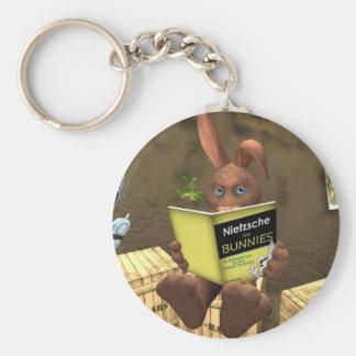 Nietzsche For Bunnies Tiny Nation Keychains