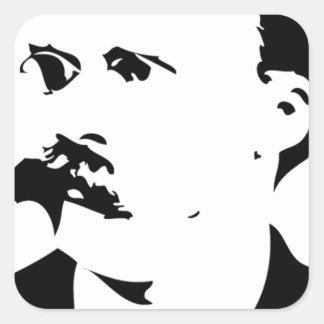 Nietzsche hace frente pegatina cuadrada