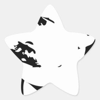 Nietzsche hace frente pegatina en forma de estrella