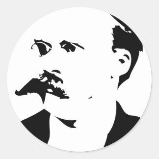 Nietzsche hace frente pegatina redonda