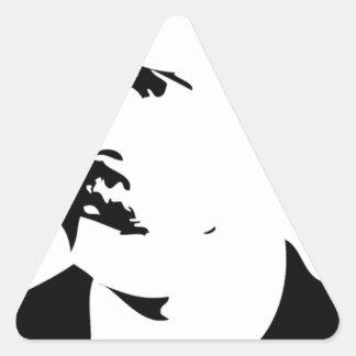 Nietzsche hace frente pegatina triangular
