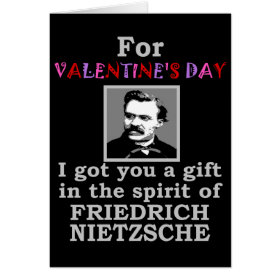 Nietzsche Humor Valentine's Day Cards