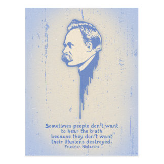 Nietzsche Illusions Postcard