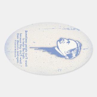 Nietzsche Illusions Oval Sticker