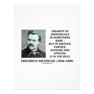 Nietzsche Insanity Rare In Individuals Quote Custom Letterhead