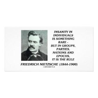 Nietzsche Insanity Rare In Individuals Quote Photo Cards