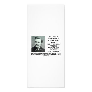 Nietzsche Insanity Rare In Individuals Quote Rack Card