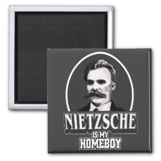Nietzsche Is My Homeboy 2 Inch Square Magnet