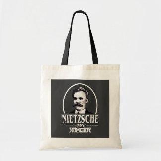 Nietzsche Is My Homeboy Budget Tote Bag