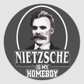 Nietzsche Is My Homeboy Classic Round Sticker