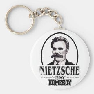 Nietzsche Is My Homeboy Keychains