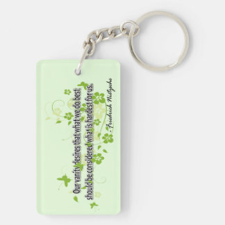 Nietzsche Rectangular Acrylic Keychains