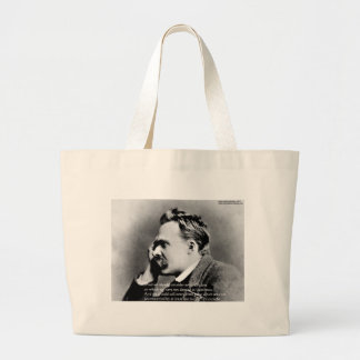 "Nietzsche ""Laugh"" Wisdom Quote Gifts Tees & Cards Large Tote Bag"