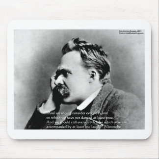 """Nietzsche """"Laugh"""" Wisdom Quote Gifts Tees & Cards Mouse Pad"""