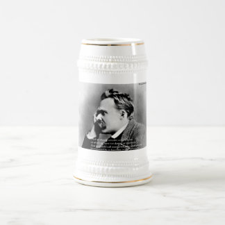 "Nietzsche ""Laugh"" Wisdom Quote Gifts Tees & Cards 18 Oz Beer Stein"