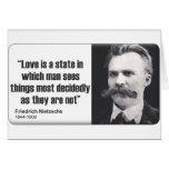 Nietzsche: Love Greeting Card